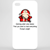 Getting older only means that you tend to lose everything except weight  Phone Case