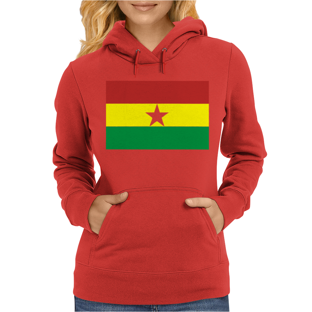 Ghana International Support Your Country  Sport Flag Womens Hoodie