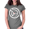 Ghost Logo Design Womens Fitted T-Shirt