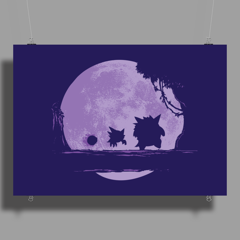 Ghost Moonwalk Poster Print (Landscape)