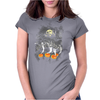 Ghosts Of Halloween Womens Fitted T-Shirt