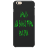 Giants are bigger than average green Phone Case