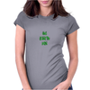 Giants are bigger than average green Womens Fitted T-Shirt
