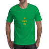 Giants are bigger than average yellow Mens T-Shirt