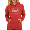 GIFT BOXED Vintage 1965 50th Birthday Womens Hoodie