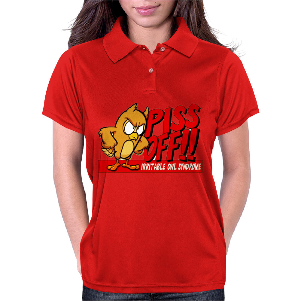 Gildan Funny  Irritable Owl Syndrome, Ideal Gift, Birthday Present Womens Polo