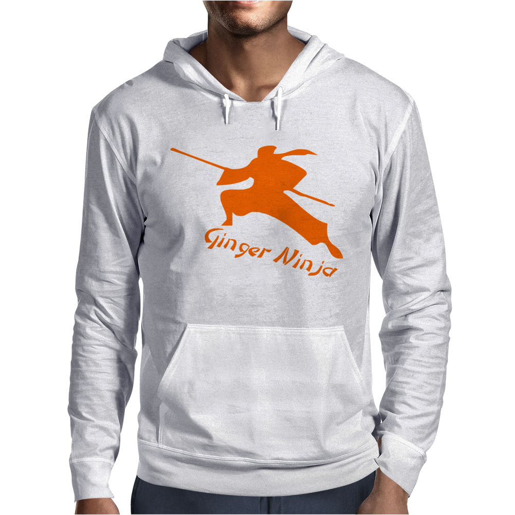 Ginger Ninja Proud Red Head Mens Hoodie