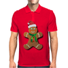 Gingerbread Man With Santa Hat Mens Polo