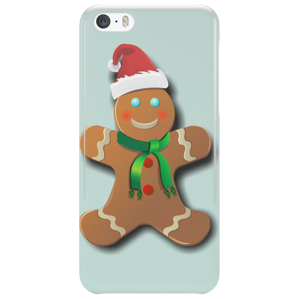 Gingerbread Man With Santa Hat Phone Case