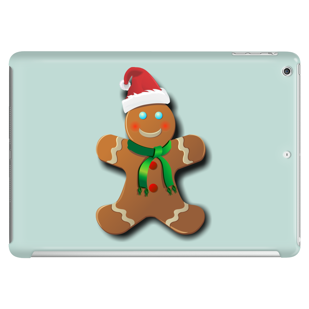 Gingerbread Man With Santa Hat Tablet