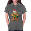 Gingerbread Man With Santa Hat Womens Polo
