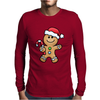 Gingerbread Santa Mens Long Sleeve T-Shirt