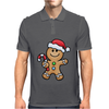 Gingerbread Santa Mens Polo