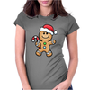 Gingerbread Santa Womens Fitted T-Shirt