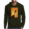 Giraffe Silhouette - Beauty of Color and Freedom Mens Hoodie
