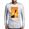 Giraffe Silhouette - Beauty of Color and Freedom Mens Long Sleeve T-Shirt