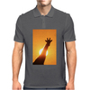 Giraffe Silhouette - Beauty of Color and Freedom Mens Polo