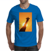 Giraffe Silhouette - Beauty of Color and Freedom Mens T-Shirt