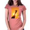 Giraffe Silhouette - Beauty of Color and Freedom Womens Fitted T-Shirt