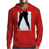 Girl in Red Thong Mens Hoodie