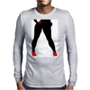 Girl in Red Thong Mens Long Sleeve T-Shirt