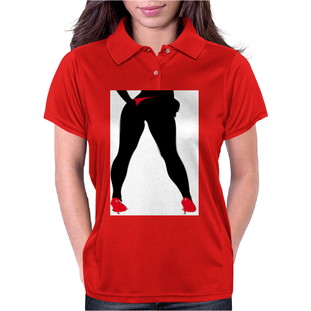Girl in Red Thong Womens Polo