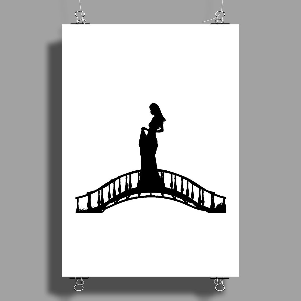 Girl in the Bridge Poster Print (Portrait)