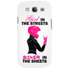 Girl in the streets biker in the sheets Phone Case