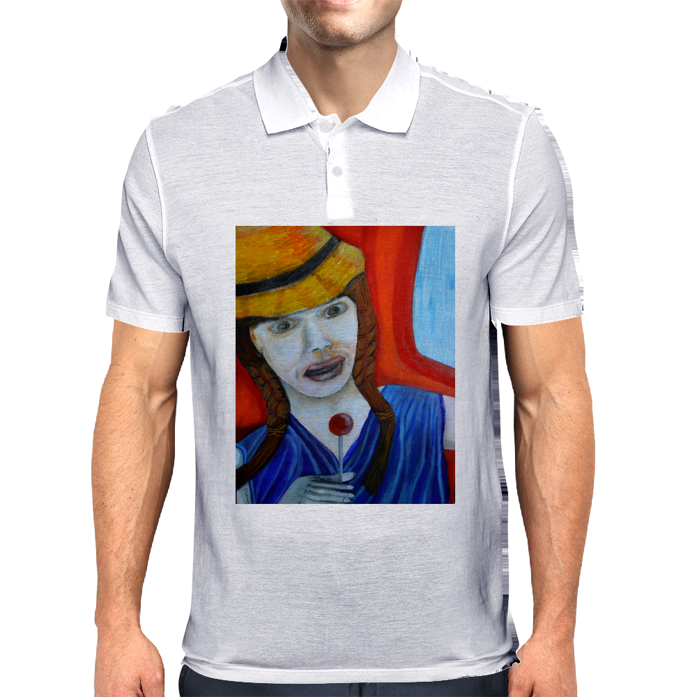 Girl On A Train Mens Polo
