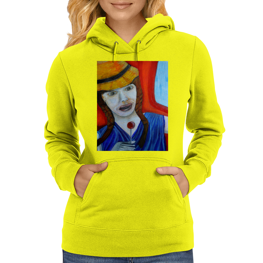 Girl On A Train Womens Hoodie
