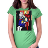 GIRL WITH BOOK Womens Fitted T-Shirt