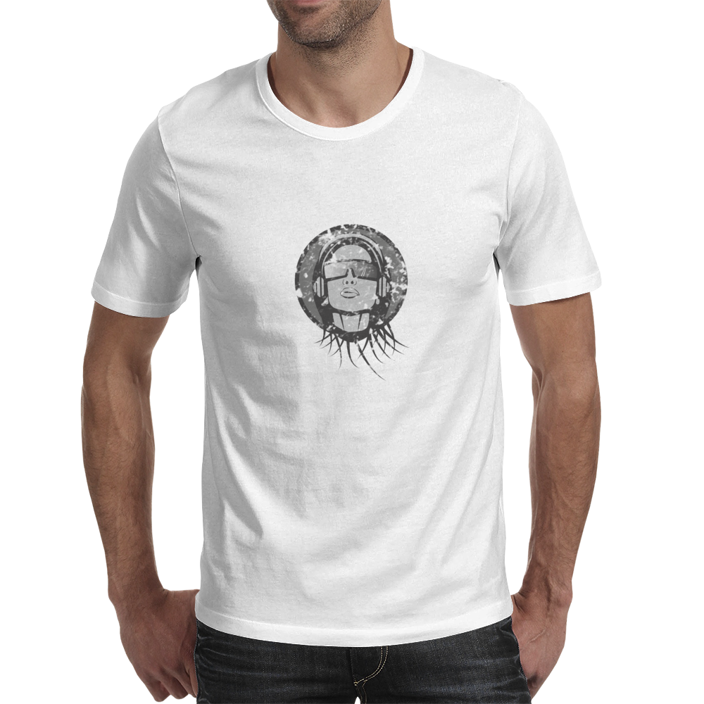 Girl with headphones Mens T-Shirt