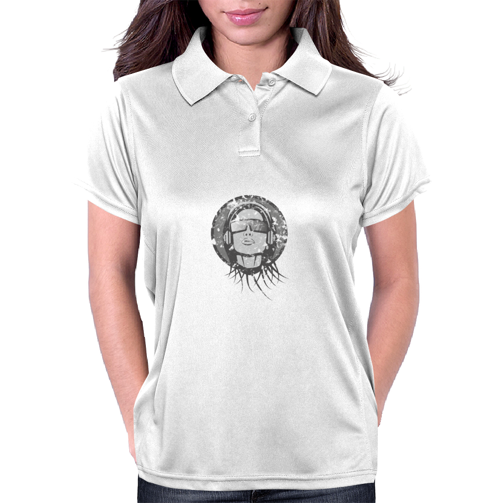 Girl with headphones Womens Polo