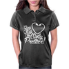 Girls Fish Too Only Prettier Womens Polo