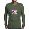 Girly Skull and Cross Bones Mens Long Sleeve T-Shirt