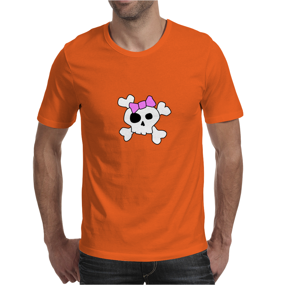 Girly Skull and Cross Bones Mens T-Shirt
