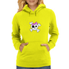 Girly Skull and Cross Bones Womens Hoodie