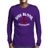 Give Blood, Mountain Biking Mens Long Sleeve T-Shirt