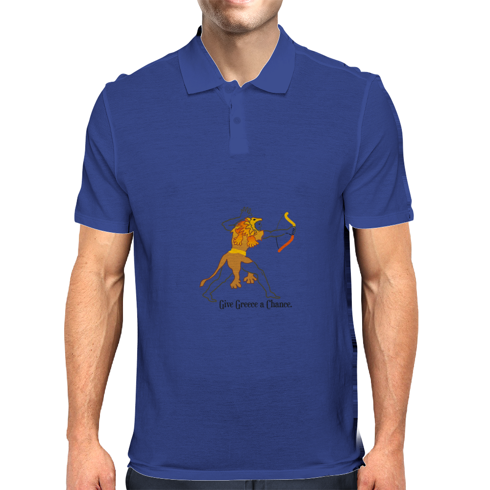 Give Greece a Chance Mens Polo