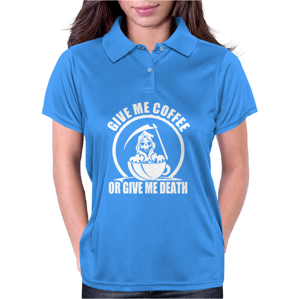 Give Me Coffee Womens Polo