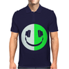 Glow In The Dark Headphone Smiley Mens Polo