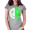 Glow In The Dark Headphone Smiley Womens Fitted T-Shirt