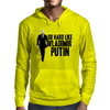GO HARD LIKE VLADIMIR PUTIN (black and white) Mens Hoodie