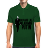 GO HARD LIKE VLADIMIR PUTIN (black and white) Mens Polo