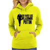 GO HARD LIKE VLADIMIR PUTIN (black and white) Womens Hoodie