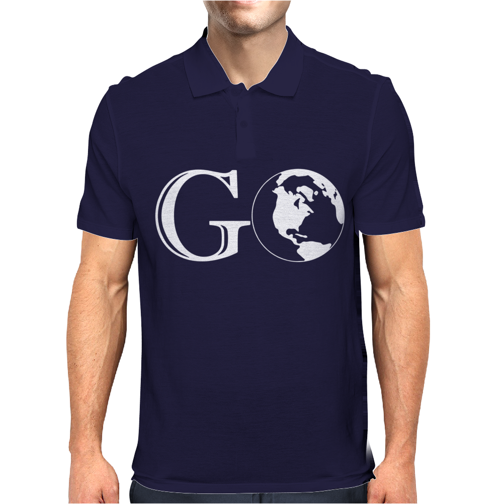 Go Travel World Mens Polo