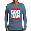 GOD CAN Mens Long Sleeve T-Shirt