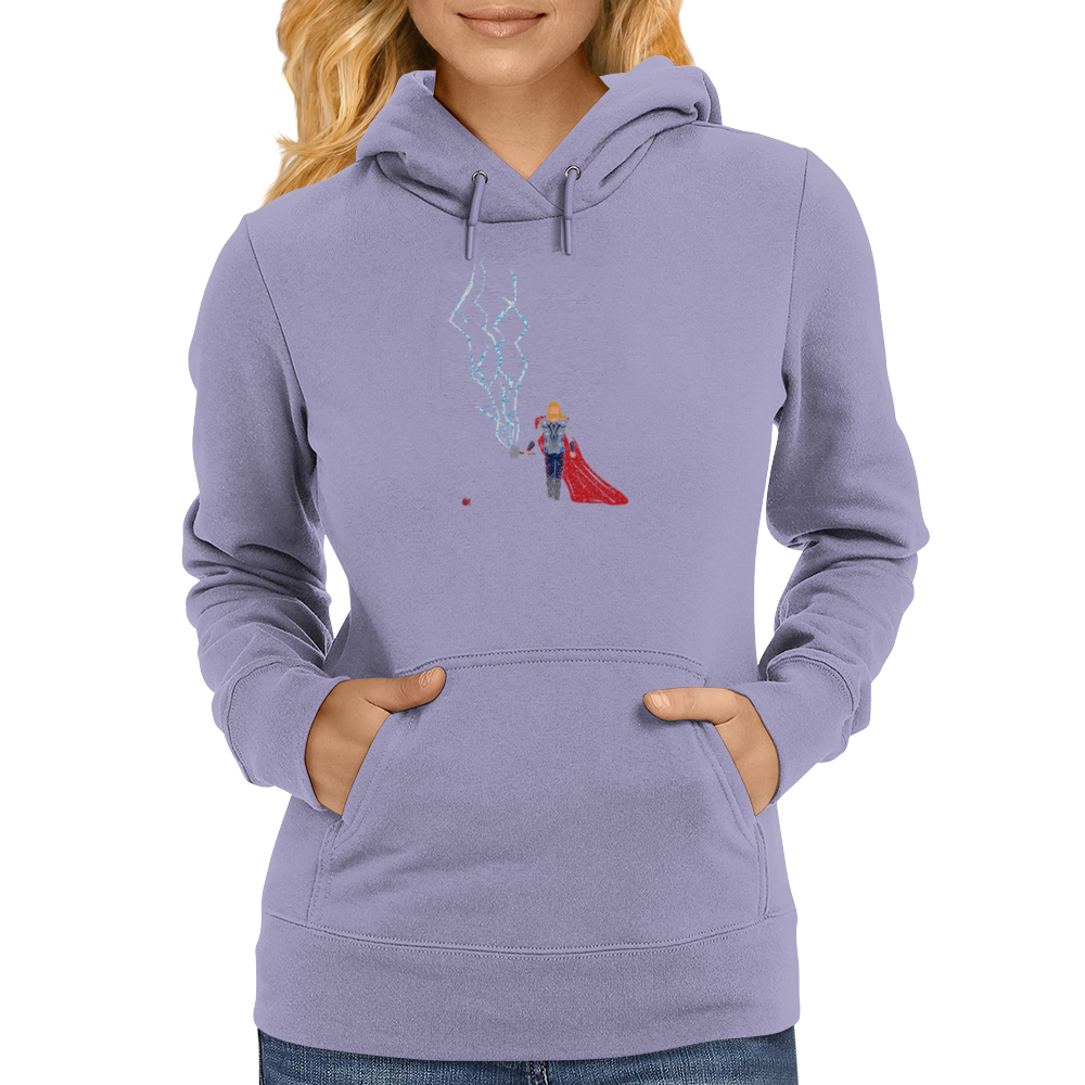 God Of Thunder Womens Hoodie