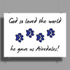 God so loved the world he gave us Airedales Poster Print (Landscape)