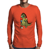 Godzilla Monster Eating Gnomes Mens Long Sleeve T-Shirt